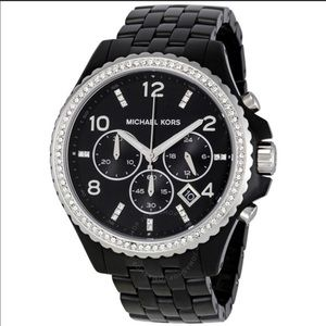 Michael Kors Black and Silver Watch (MK-5490)